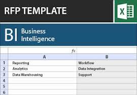 business intelligence bi rfi rfp template