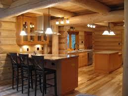 kitchen rustic cabin ideas small log attractive home interior