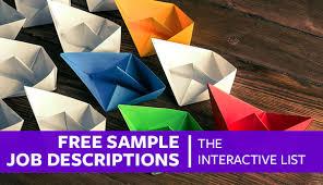 Hr Help Desk Job Description Free Sample Job Descriptions The Interactive List