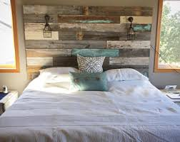 Barn Wood Headboard Reclaimed Wood Headboard Etsy
