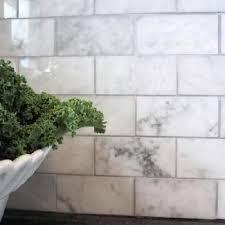 marble subway tile kitchen backsplash carrara marble subway tile transitional kitchen freckles