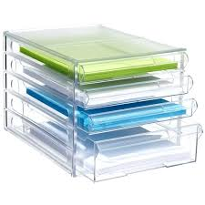Acrylic Desk Drawer Organizer Desk Drawer Organizer Tray Acrylic Hanging Drawer Organizer Image