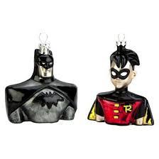 2 batman robin ornament set batman