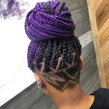 half shaved with braids purple braids styles 35 gorgeous purple braids hairstyles