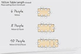 Rectangular Table Seating Planner - Dining table size to fit 8