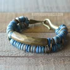 diy jewelry bracelet images Brass coconut diy bead bracelet happy hour projects jpg