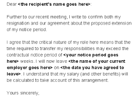 3 short notice resignation email notice letter