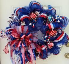 white deco mesh white and blue wreaths patriotic deco mesh wreath white