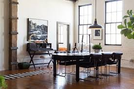 vintage industrial dining room table interior design