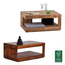 Wohnzimmertisch Holz Quadratisch Couchtisch Massivholz Günstig Online Kaufen Real De