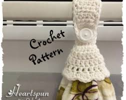 pattern crochet towel holder crochet pattern to make a kitchen or bath towel topper ring