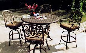 Cheap Bar Height Patio Furniture by Dining Room Top New Bar Height Outdoor Table Set Home Designs