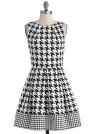 houndstooth dress closet london luck be a a line dress in violet houndstooth