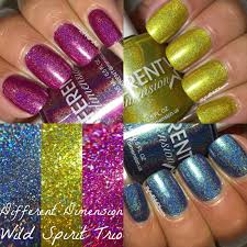 my nail polish obsession different dimension wild spirit trio