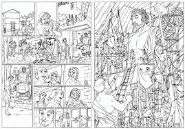 comic books coloring page for kids coloring home