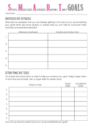 goal setting worksheet template worksheets