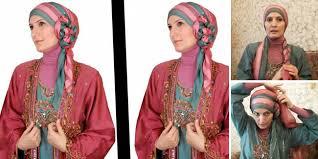 tutorial turban sederhana tutorial hijab pesta praktis dan elegan acusster