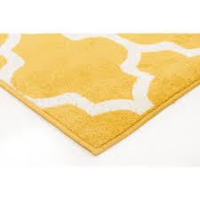 lavardin yellow trellis indoor outdoor rug