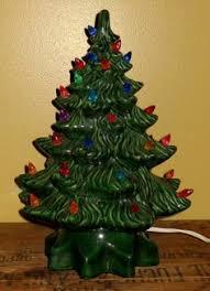 ceramic light up christmas tree vtg ceramic electric light up o lantern pumpkin witch hat and