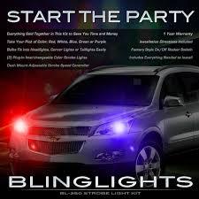 strobe lights for car headlights blinglights chevrolet chevy traverse strobe police light kit for