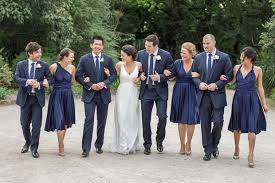 navy bridesmaid dresses what color tux to go with navy bridesmaid dresses weddingbee