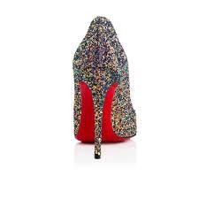 pigalle follies 100 china blue glitter women shoes christian