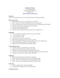 sports resume for college exles soccer coach resumes europe tripsleep co