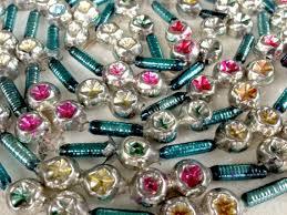 vintage mercury glass bead garland indent bead garland