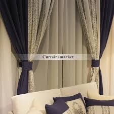 drapes curtains for blackout sunshine in navy color