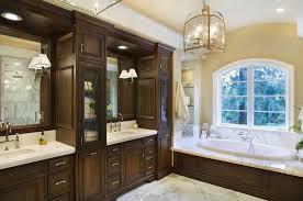 master bathroom cabinet ideas earth toned master bathroom this spacious master bath combines