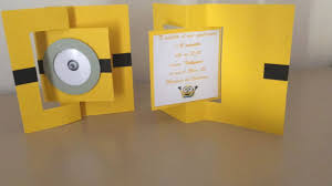 diy minion invitations tutorial invito minions how to make minions invitation
