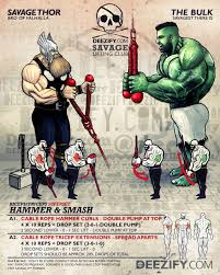 arm superset exercise thor hammer curls and hulk tricep extensions