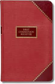 communion book church record materials page 1 of 2