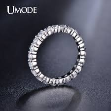3mm diamond umode new white gold color 3mm 0 1 carat cz wedding