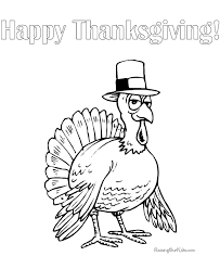 happy thanksgiving turkey coloring pages 024