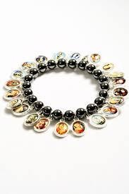 religious bracelets single row hematite religious bracelets 4026 6 rosarycard net