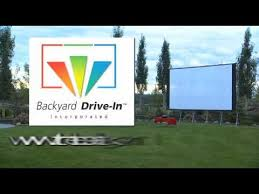 Backyard Outdoor Theater by The Backyard Drive In Projection Screens For Outdoor Movie