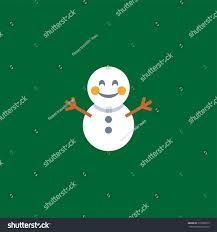 abstract funny flat style christmas snowman stock vector 516298573