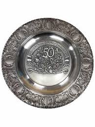 50th anniversary plates wedding anniversary plates german toasting glasses