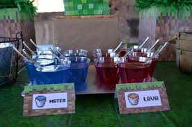 minecraft party decorations kara s party ideas minecraft party ideas planning idea supplies