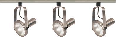 Led Track Lighting 3 Light Par30 Brushed Nickel Gimbal Ring Track Kit Satco Tk343