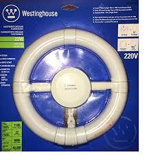 circular fluorescent light bulbs pack of 2 two westinghouse 8 22 watt t9 medium e26 base 4