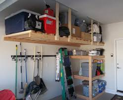 clean and organized wall shelves for your garage storage system
