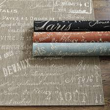 the graphic pattern for the document rug was inspired by our best