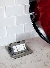 kitchen island outlets tile countertops pop up electrical outlets for kitchen islands