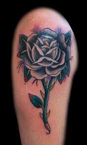 28 best single black rose tattoos for men images on pinterest