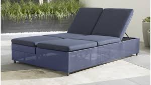 Crate And Barrel Sofa Cushion Replacement Dune Navy Outdoor Double Chaise Lounge Crate And Barrel
