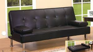 Futon Sofa Bed Black Simulated Leather Futon Sofa Bed Sleeper With Arms Futons
