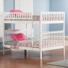 Woodland Twin Over Twin Staircase Bunk Bed Hayneedle - White bunk beds twin over full with stairs