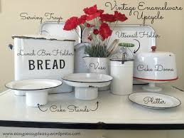 canisters for the kitchen my enamelware obsession easy peasy pleasy